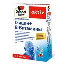 Доппельгерц актив Глицин + B-Витамины, 610 мг, капсулы, 30 шт.