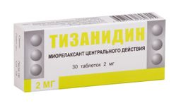 Тизанидин, 2 мг, таблетки, 30 шт.