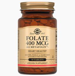 Solgar Фолат 400мкг Метафолин, 400 мкг, таблетки, 50 шт.