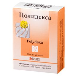 Полидекса, капли ушные, 10.5 мл, 1 шт.