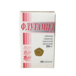 Флутамид, 250 мг, таблетки, покрытые пленочной оболочкой, 100 шт.