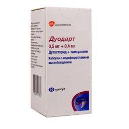 Дуодарт, 0.5 мг+0.4 мг, капсулы с модифицированным высвобождением, 30 шт.