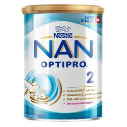 NAN 2 Optipro, для детей с 6 месяцев, смесь молочная сухая, с пробиотиками, 400 г, 1шт.