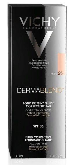 Vichy Dermablend флюид тональный корректирующий тон 25, крем для лица, тон 25, 30 мл, 1шт.