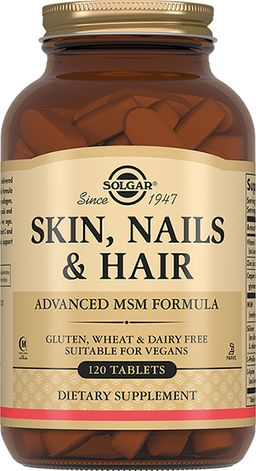 Solgar Таблетки для кожи, ногтей и волос, таблетки, 120шт.