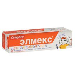 Элмекс Зубная паста детская до 6 лет, с фтором, паста зубная, 50 мл, 1 шт.