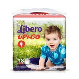 Подгузники-трусики детские Libero Up&Go, 7-11 кг., р. 4, 18шт.