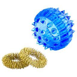 Массажный шарик с кольцами