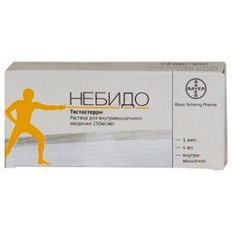 Небидо, 250 мг/мл, раствор для внутримышечного введения, 4 мл, 1 шт.