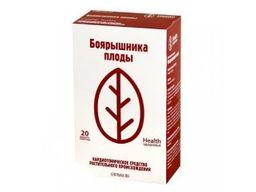 Боярышника плоды, сырье растительное-порошок, 1.5 г, 20шт.