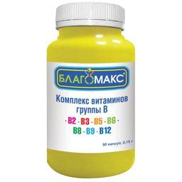 Благомакс Комплекс витаминов группы B, 0.15 г, капсулы, 90 шт.