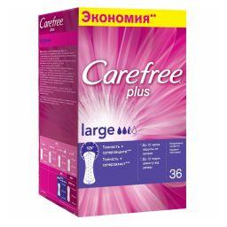 Carefree plus Large салфетки женские гигиенические ежедневные, салфетки гигиенические, 36шт.