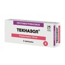 Текназол, 100 мг, капсулы, 4 шт.