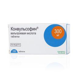 Конвульсофин, 300 мг, таблетки, 100 шт.