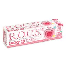 ROCS Baby зубная паста нежный уход яблоко