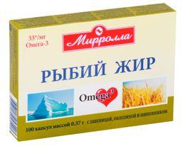 Mirrolla Рыбий жир с пшеницей, облепихой и шиповником