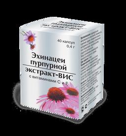Эхинацеи пурпурной экстракт-ВИС с витаминами C и E, 0.4 г, капсулы, 40шт.