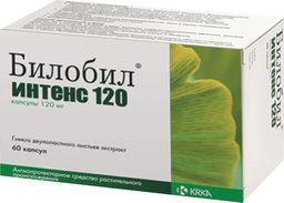 Билобил интенс 120, 120 мг, капсулы, 60 шт.