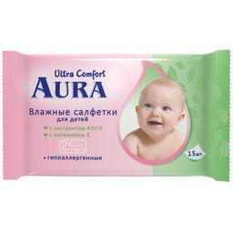 Aura салфетки влажные детские