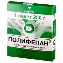 Полифепан, порошок для приготовления суспензии для приема внутрь, 250 г, 1 шт.