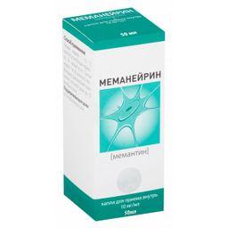 Меманейрин, 10 мг/мл, капли для приема внутрь, 50 мл, 1 шт.
