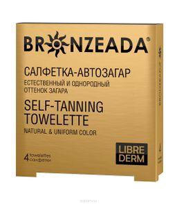 Librederm Bronzeada Салфетка-автозагар, Салфетка для автозагара, 4 шт.