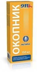 911 растирка Окопник, жидкость для наружного применения, 150 мл, 1шт.