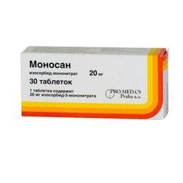 Моносан, 20 мг, таблетки, 30 шт.