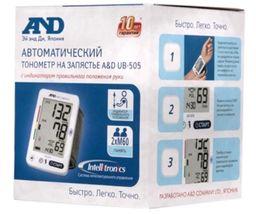 Тонометр автоматический AND UB-505 на запястье, на запястье, 1 шт.
