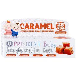 PresiDent Baby зубная паста карамель, паста зубная, без фтора, 1 шт.