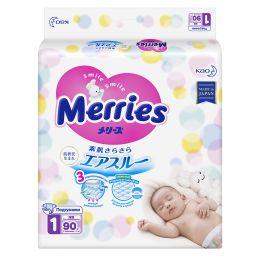 Подгузники детские Merries, 0-5 кг, р. NB, 90 шт.