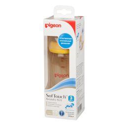 Pigeon бутылочка SofTouch Peristaltic Plus PPSU Пластиковая