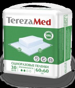 TerezaMed Normal пеленки одноразовые, 60 смx60 см, Normal (2 капли), 30 шт.