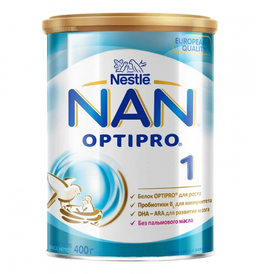 NAN 1 Optipro, для детей с рождения, смесь молочная сухая, с пробиотиками, 400 г, 1шт.