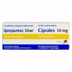 Ципралекс, 10 мг, таблетки, покрытые оболочкой, 14 шт.