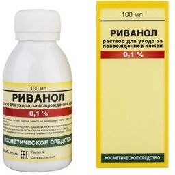 Риванол раствор для ухода за кожей, 0.1%, жидкость, 100 мл, 1 шт.