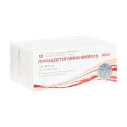 Пиридостигмина бромид, 60 мг, таблетки, 100 шт.