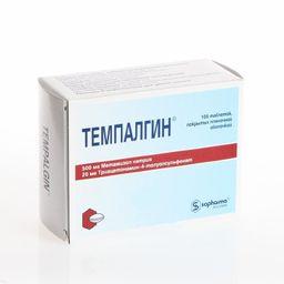 Темпалгин, таблетки, покрытые пленочной оболочкой, 100шт.