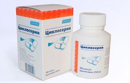 Циклосерин, 250 мг, капсулы, 100шт.
