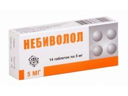 Небиволол, 5 мг, таблетки, 14 шт.