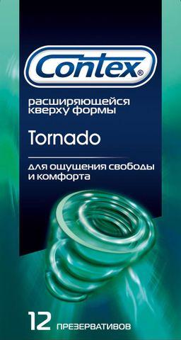 Презервативы Contex Tornado, презерватив, специальной формы, 12шт.
