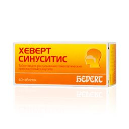 Хеверт синуситис, таблетки для рассасывания гомеопатические, 40шт.