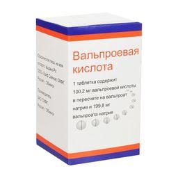 Вальпроевая кислота, 300 мг, таблетки с пролонгированным высвобождением, покрытые пленочной оболочкой, 50 шт.
