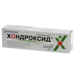 Хондроксид, 5%, гель для наружного применения, 30 г, 1 шт.