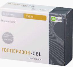 Толперизон-OBL, 150 мг, таблетки, покрытые пленочной оболочкой, 30шт.