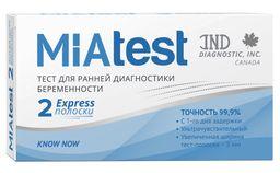 MiaTest Тест на беременность, тест-полоска, 2шт.