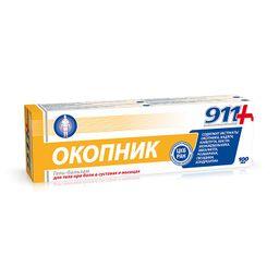 911 гель-бальзам для суставов Окопник, гель-бальзам, 100 мл, 1 шт.
