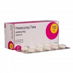 Нимесулид-Тева, 100 мг, таблетки, 20 шт.