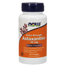 NOW Astaxanthin, 10 мг, капсулы, 60шт.