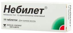 Небилет, 5 мг, таблетки, 14 шт.